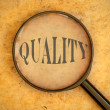 Focus on quality — Stock Photo