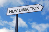 New direction sign — Stock Photo