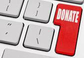 Online donation — Stock Photo