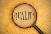 Focus on quality — Stock Photo