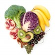 Heartshape superfoods — Stock Photo