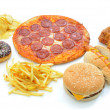 Fast food collection — Stock Photo