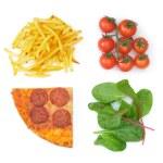 Good bad food choices — Stock Photo #26046999