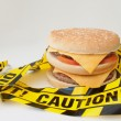 Stock Photo: Fast food warning