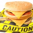 Fast food warning — Stock Photo