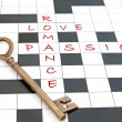 Love crossword — Foto Stock