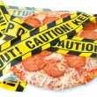 Stock Photo: Unhealthy food caution