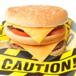 Fast food warning — Stock Photo #34793427