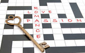 Love crossword — Stock Photo