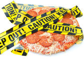 Unhealthy food caution — Stock Photo
