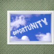 Stock Photo: Window of opportunity