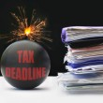 Tax deadline — Stock Photo