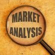 Market analysis — Stock Photo