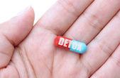 Detox pill — Stock Photo