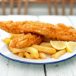 Traditional english fish and chips — Stock Photo
