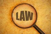 Law word — Stock Photo