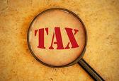 Tax word — Stock Photo