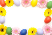 Spring easter border — Stock Photo