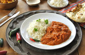 Chicken curry with rice — Foto Stock
