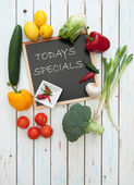 Todays specials menu — Stock Photo