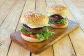 Hamburger with cheese — Stock Photo