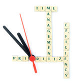 Time management puzzle — Stock Photo