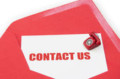 Contact us business card — Stock Photo