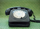 Svart telefon — Stockfoto