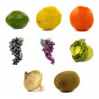 Collage of fruits and vegetables — Stock Photo