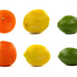 Orange, lemon and lime — Foto Stock