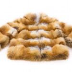 Women fur coat on white background — Stock Photo