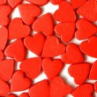Red hearts love background — Stock Photo