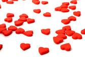 πολλές κόκκινες καρδιές — Φωτογραφία Αρχείου