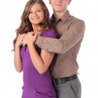 Portrait of a beautiful young happy smiling couple — Stock Photo #35308493