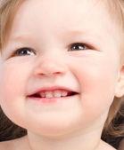 Close up portrait of little smiling child — Stock Photo