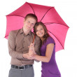 Couple under umbrella — Stock Photo