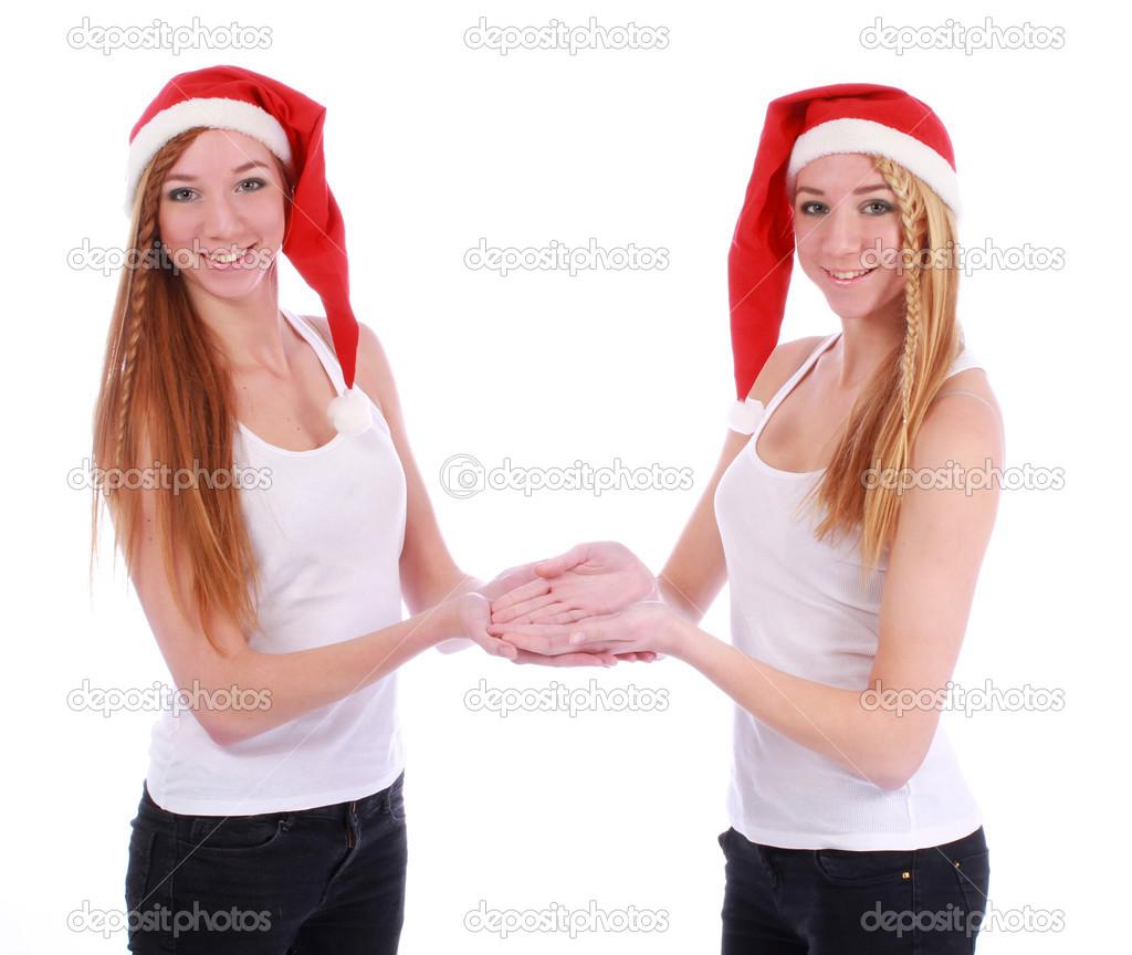 Две новогодние телочки фото 141-594