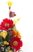 Red and yellow flowers bouquet — Stock Photo