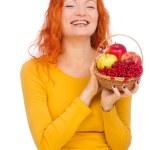 Постер, плакат: Woman with autumn fruits