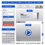 Blue Web Design Elements — Stock Vector #6754201