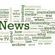News Word Cloud - Stock Photo