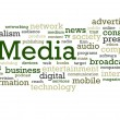 Media Word Cloud — Stock Photo #12886806