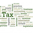 Stock Photo: Tax Word Cloud