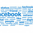 Foto Stock: Facebook Word Cloud