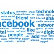 Facebook Word Cloud — Stock Photo