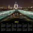 London Calendar 2013 — Stock Photo