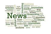 News Word Cloud — Stock Photo