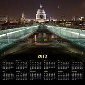 Calendário de Londres 2013 — Fotografia Stock