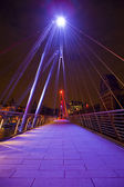 Golden Jubilee Bridge in London — Stock Photo