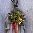Manneken Pis (Peeing Boy) in Brussels — 图库照片